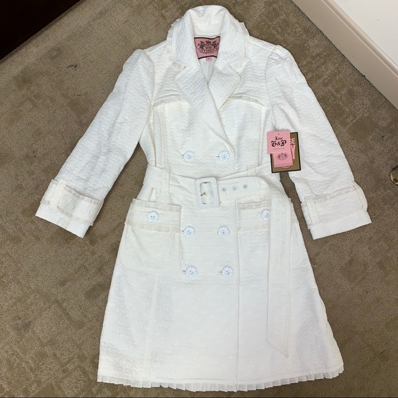 Juicy Couture Jackets & Blazers - Juicy Couture Belted Dressy Fitted Trench Coat